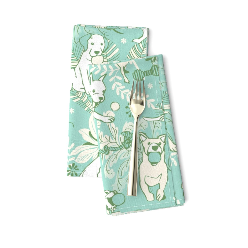 Amarela Dinner Napkins featuring Play catch by camcreative