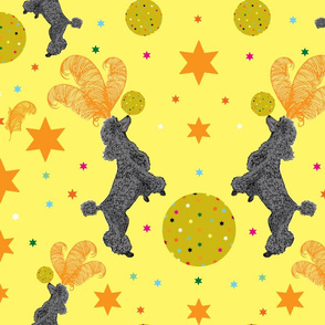 Circus Poodles Yellow