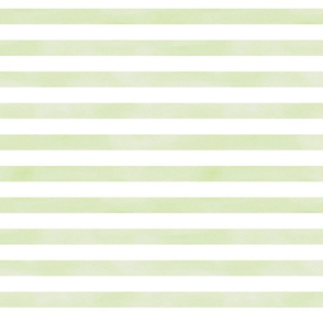Green and White Watercolor Stripe