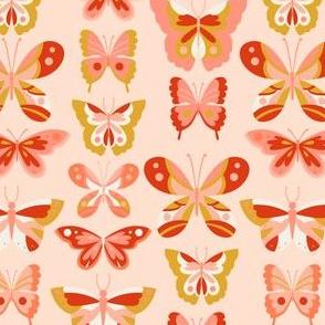 Butterfly - Mustard + Pink