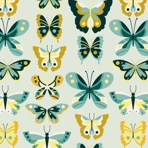 Butterfly - Turq + Mint