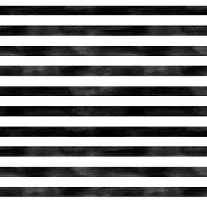 Watercolor Stripe in Black and White