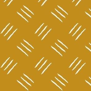 mudcloth freehand  checkerplate - mustard