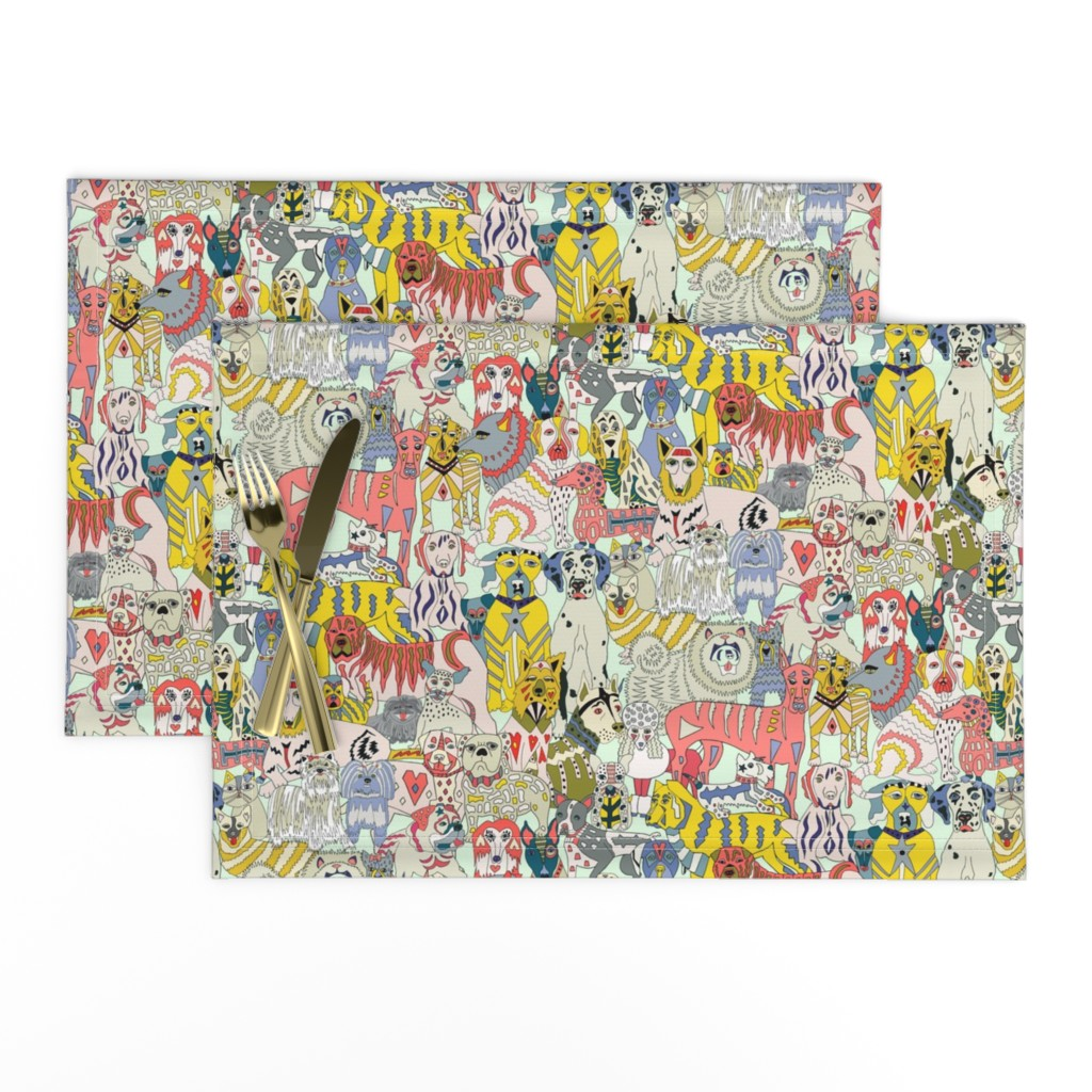 Lamona Cloth Placemats featuring Dog Lover Expanded by angelastevens