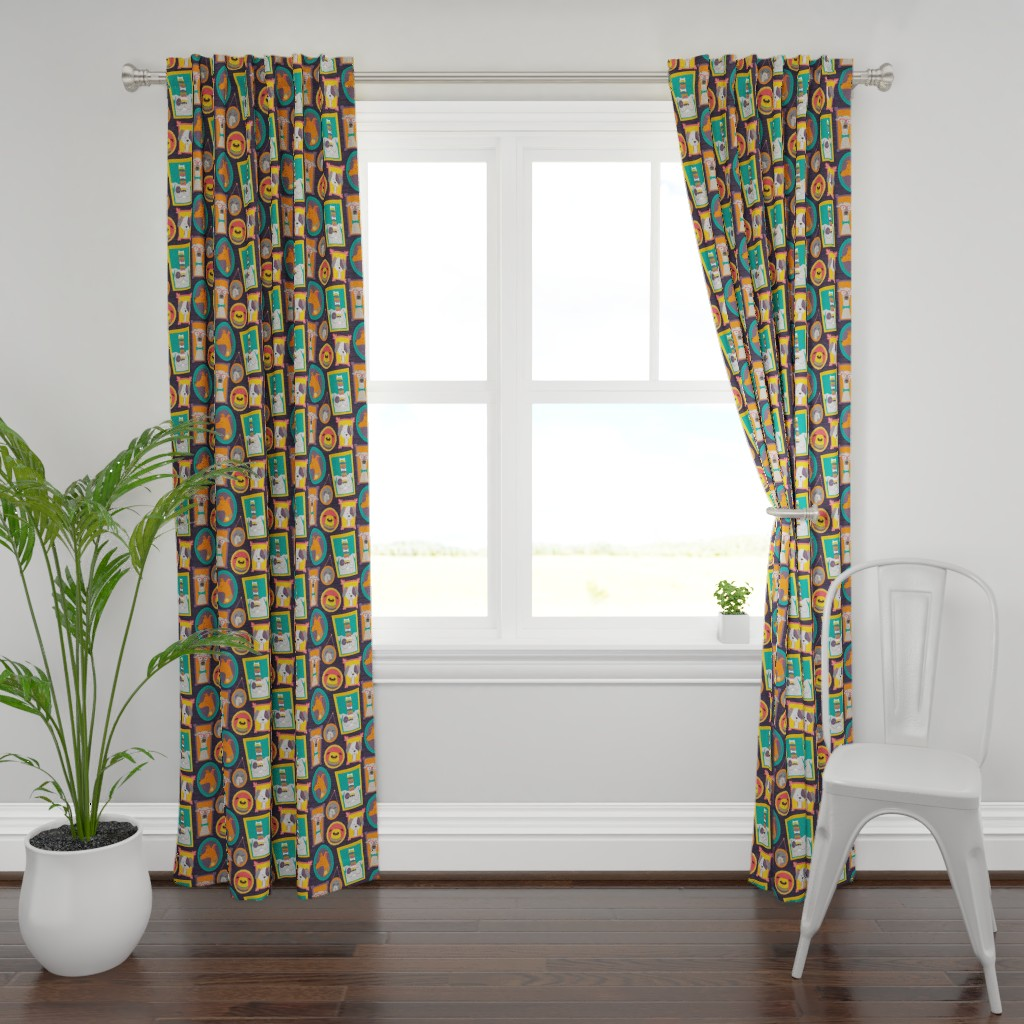 Plymouth Curtain Panel featuring dog gallery by michaelzindell