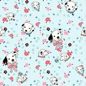 dalmatian flower teal