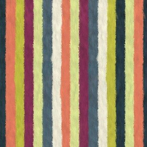 Colorful Oil Paint Vertical Brush Strokes Stripes