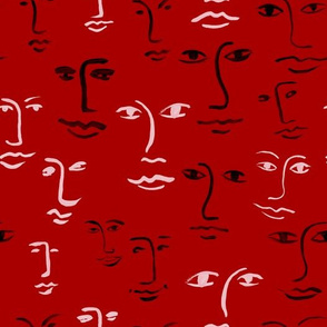 mixed faces - really red
