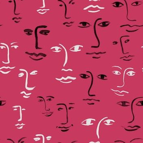 mixed faces - seriously pink