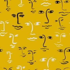 mixed faces - sun yellow