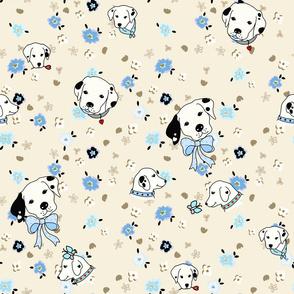 dalmatian flower -bone