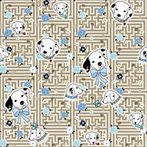 dalmatian flower maze - bone