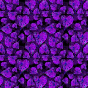 Purple Hearts in a pool