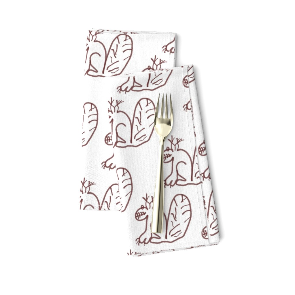 Amarela Dinner Napkins featuring Whimsy Squirrel by herbal_things