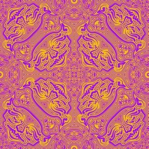 Daemon Damask purple-yellow