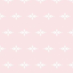 Adeline - Cream on rose pink