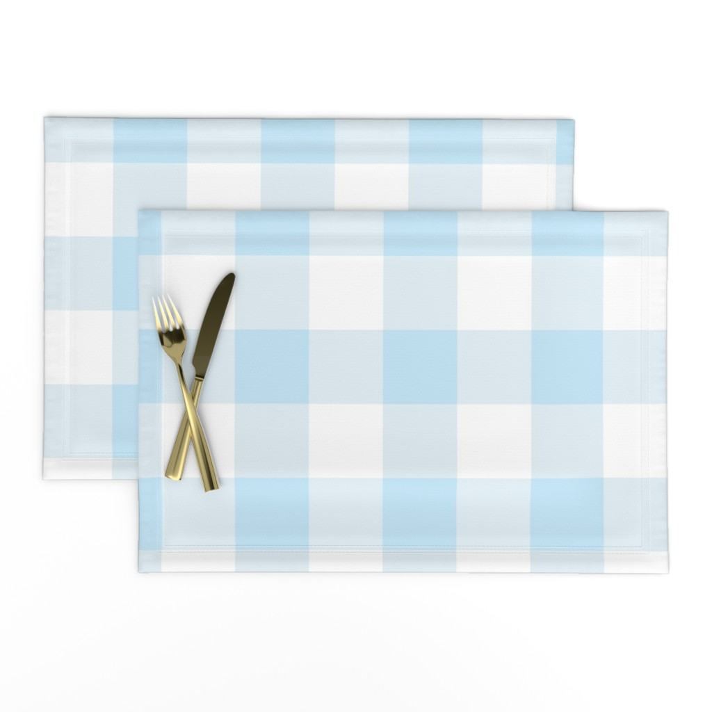 Lamona Cloth Placemats featuring light blue buffalo check by aacraven85