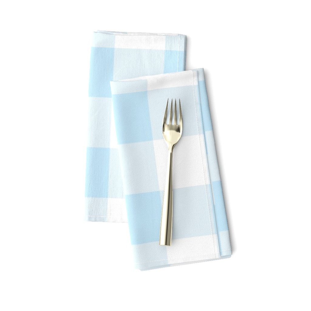 Amarela Dinner Napkins featuring light blue buffalo check by aacraven85