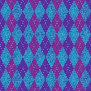 argyle purple, magenta and turquoise