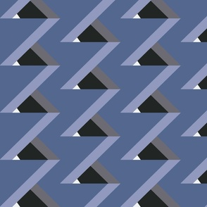 Optical Illusion Color Block Stepping Triangles (Dark Skies)