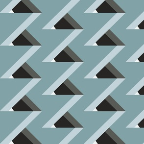 Optical Illusion Color Block Stepping Triangles (Lakeside)