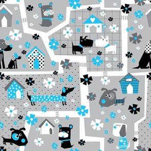 Paw-fact puppy village_Blue