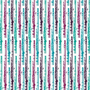 Flute Stripes - Teal and Purple