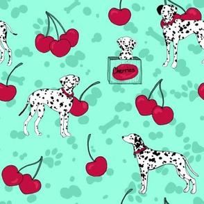 Dalmatian // cherry & mint