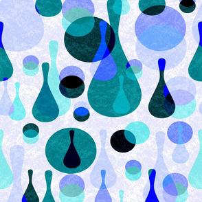 Mod spots and drops - blues, purples