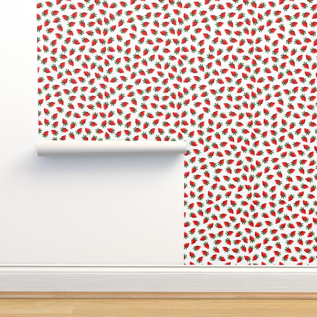 Isobar Durable Wallpaper featuring Watercolor hand drawn  fruits pattern design by nina_savinova