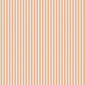Classic Small Orange Soda French Mattress Ticking Double Stripes