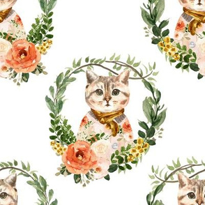 """8"""" Miss Kitty Floral Wreath"""