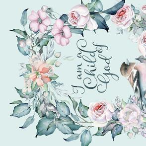 Bird And Flower Watercolor Tea Towel Child Of God
