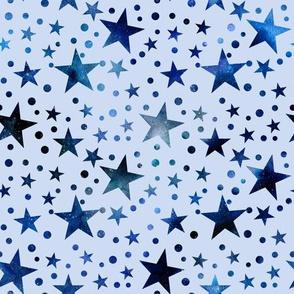 Blue Stars Christmas Pattern