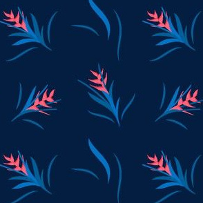 Heliconia Flower Blue