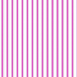 Trendy Large Pink Fuchsia Pastel Pink French Mattress Ticking Double Stripes