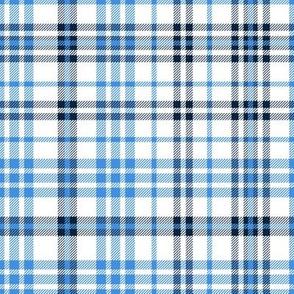 titans plaid - titans check, tartan, plaid, check fabric, navy and blue fabric, tartans fabric -