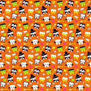 SMALL Halloween Teeth - Orange