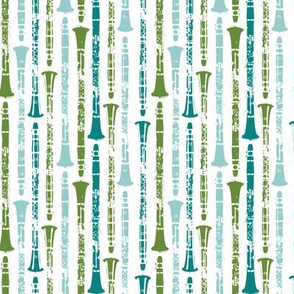 Grunge Clarinets - Green and Blue