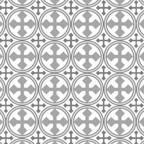 Greek Circle Cross in Silver