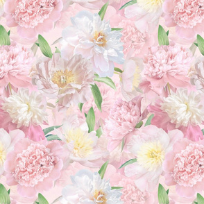 """14"""" Pastel Real Springflower Peony Pattern - multiple Layers"""