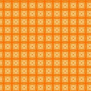 Mini Prints_Orabge Flower Squares