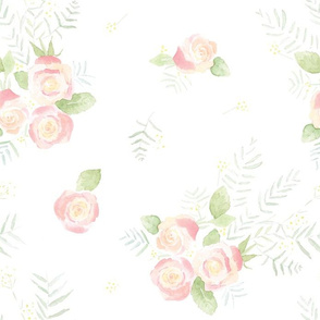 watercolor bouquet // baby, kids, bridal print