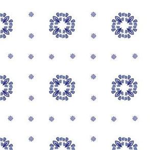 Delft plaid dots