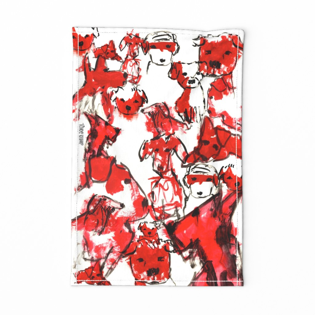 Special Edition Spoonflower Tea Towel featuring redrovertowel by dawndsokol