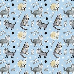 dog scribble pattern