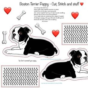 Boston Terrier Cut Sew and Stuff