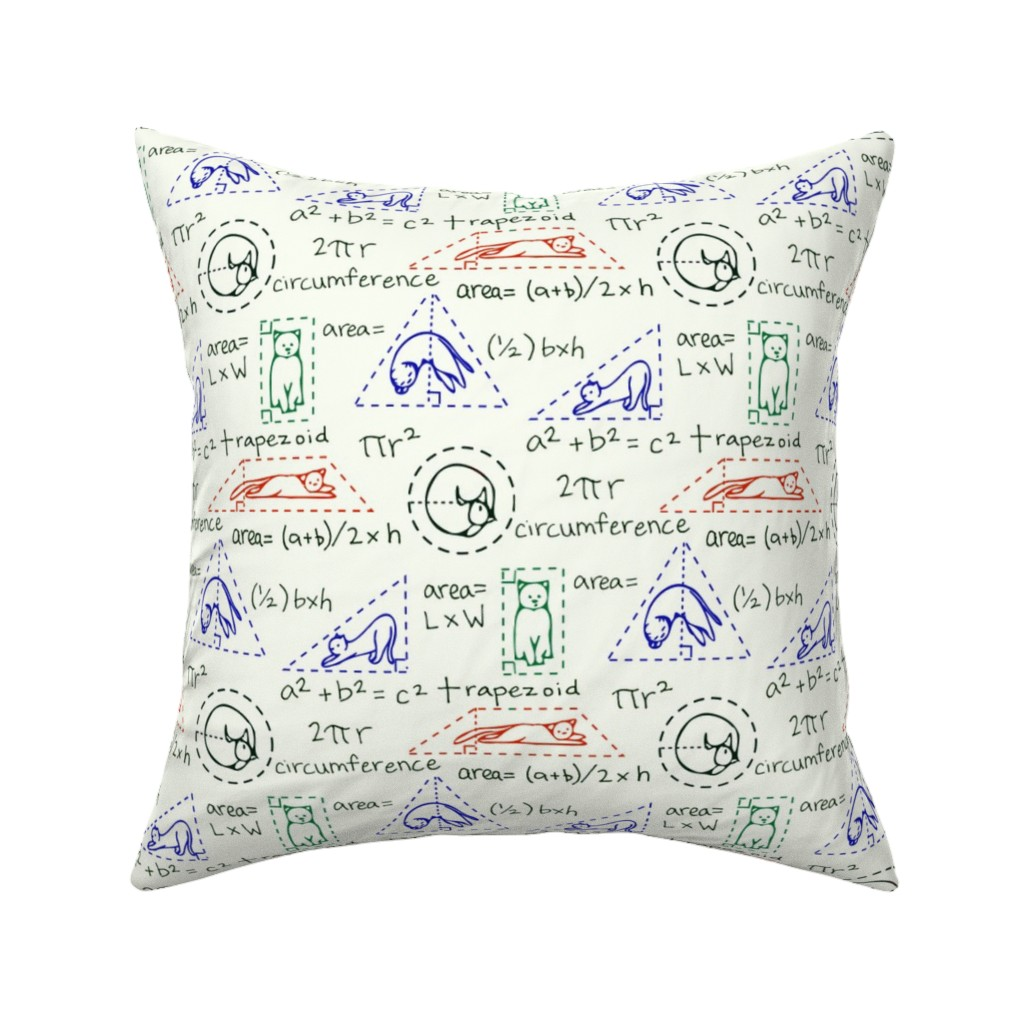 Catalan Throw Pillow featuring MatheCATics: The Geometry of Cats by newyearpatterns