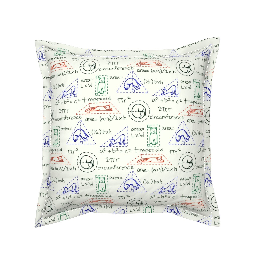 Serama Throw Pillow featuring MatheCATics: The Geometry of Cats by newyearpatterns
