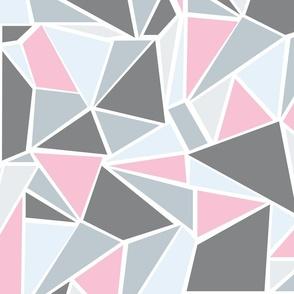 Colour Blocking Pink Grey